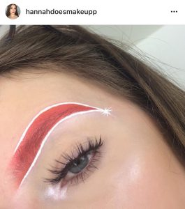 Santa Hat And Christmas Makeup Trends Fontana Beauty Vibes - Christmas-makeup