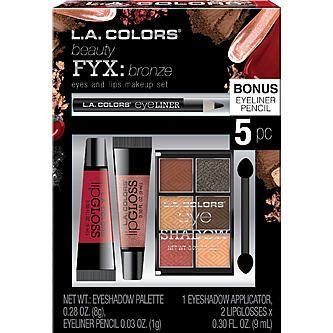 Fwd L A Colors Fyx Bronze Eyes And Lips Makeup Set Fontana